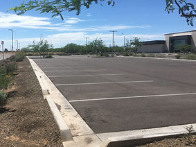 parking lot sweeping, arizona site services, phoenix power sweeping