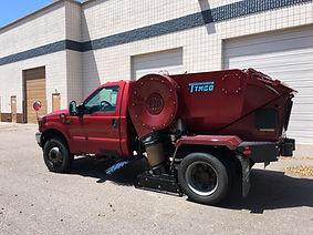 Power sweeping sweeper truck phoenix property maintenance