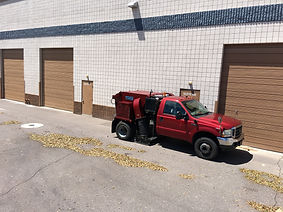phoenix power sweeping, parking lot sweeping, phoenix property maintenance
