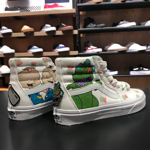 Custom Sk8 Hi Rugrats Themed Vans Size 65 Women