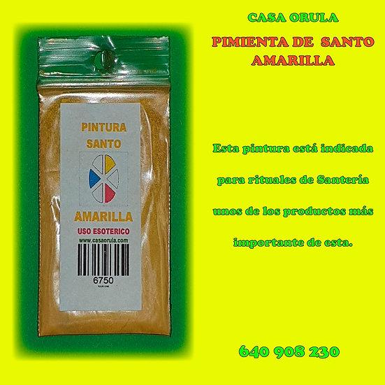 PINTURA DE SANTO AMARILLA