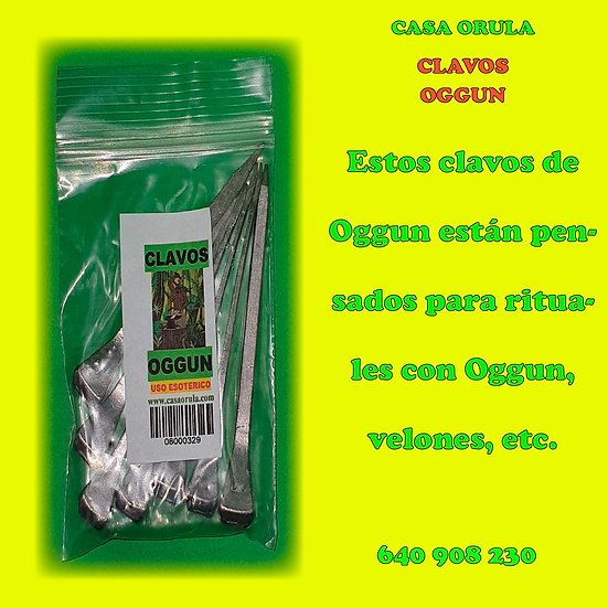 CLAVOS DE OGGUN