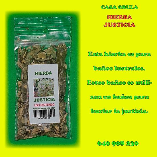 HIERBA JUSTICIA