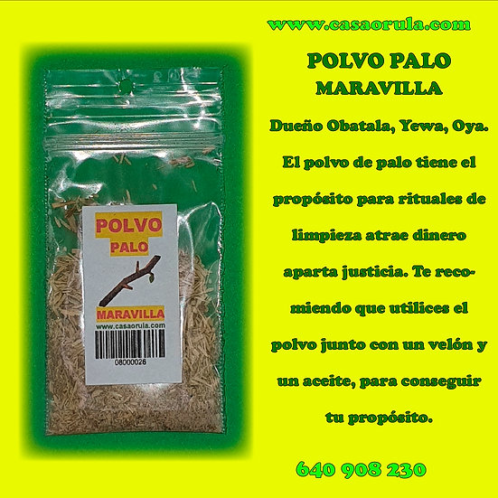 POLVO DE PALO MARAVILLA