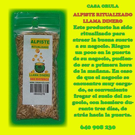 ALPISTE RITUALIZADO LLAMA DINERO