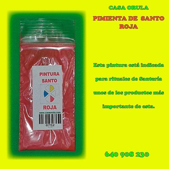 PINTURA DE SANTO ROJA