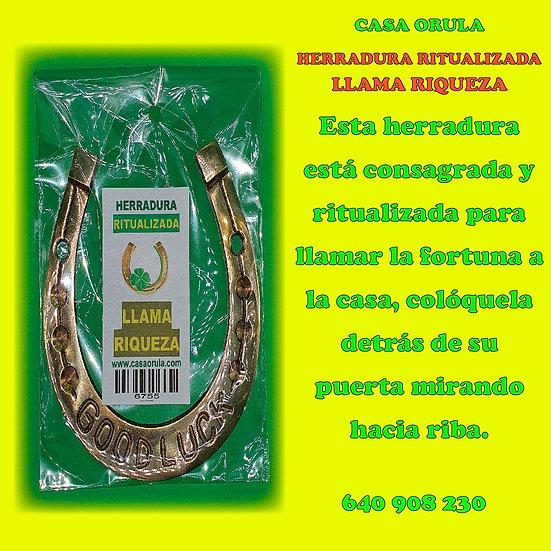 HERRADURA RITUALIZADA LLAMA RIQUEZA