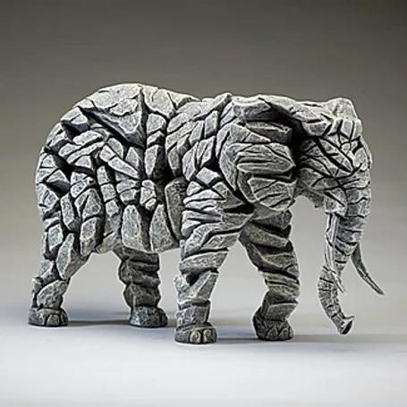 Edge Sculpture - Elephant (White)