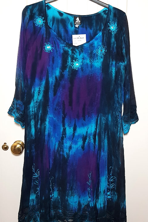 Loom Dragon Tie Dye Patterned Dress