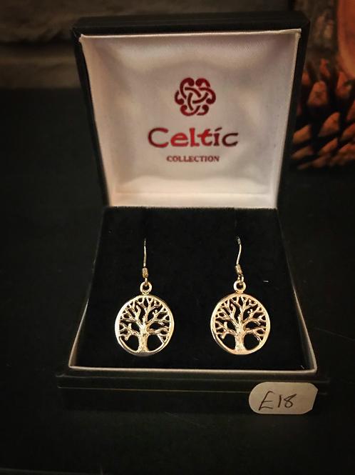 Tree of Life Celtic Earrings
