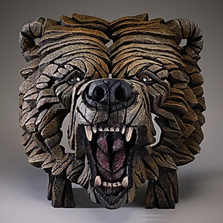 Edge Sculpture - Grizzly Bear Bust
