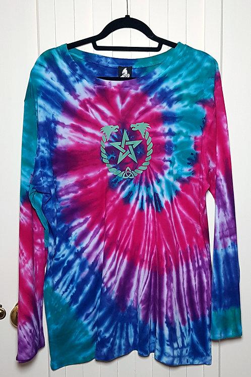 Loom Dragon Tie Dye Pentagram long sleeved top