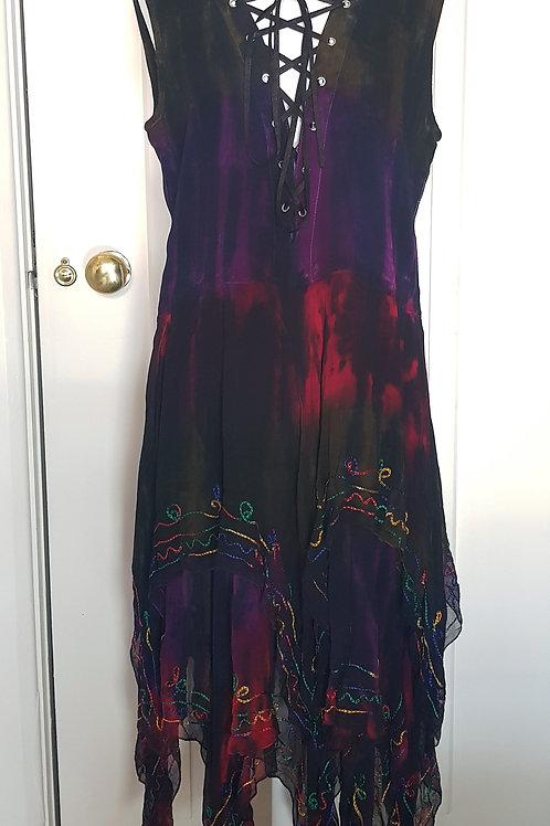 Loom Dragon Tie Dye Sleeveless Dress