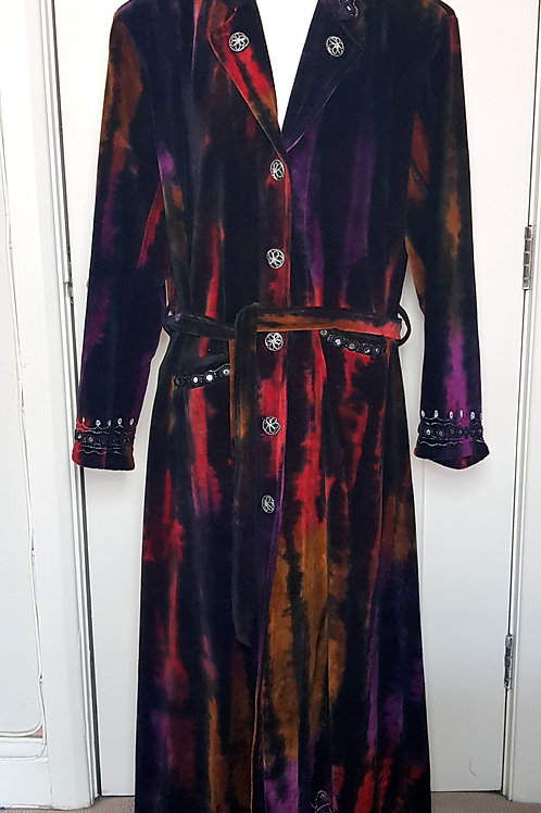 Loom Dragon Long Tie Dye Coat