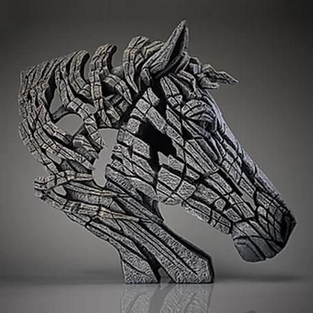 Edge Sculpture - Horse Bust (White)