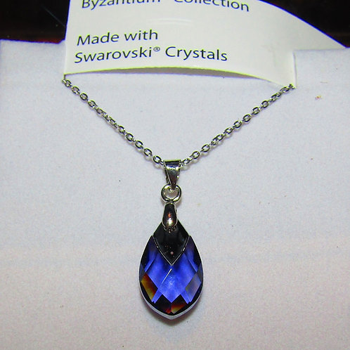 Blue tanzanite glass
