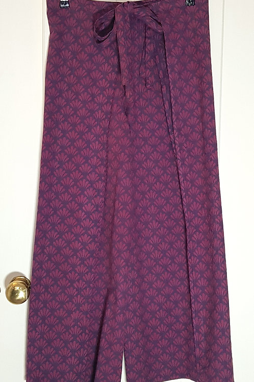 BAZAAR Patterned Wrap Around Flared Trousers