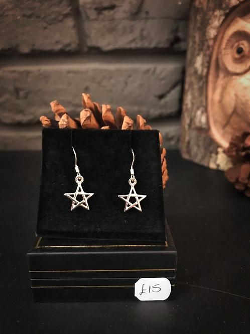 Pentagram Celtic Earrings