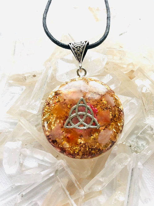 OrgonChi Artisan Pendants - The Rose Gold Flame