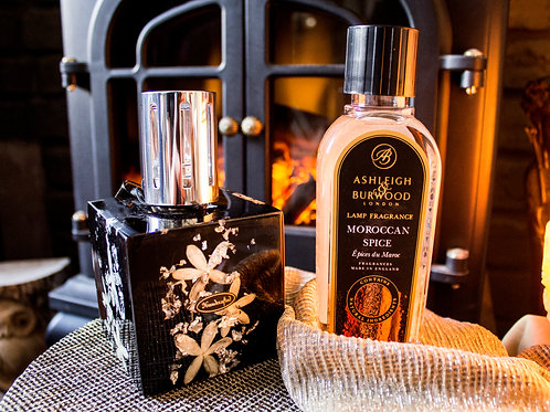 Midnight Collection: Silver Jasmine Fragrance Oil Lamp Gift Set