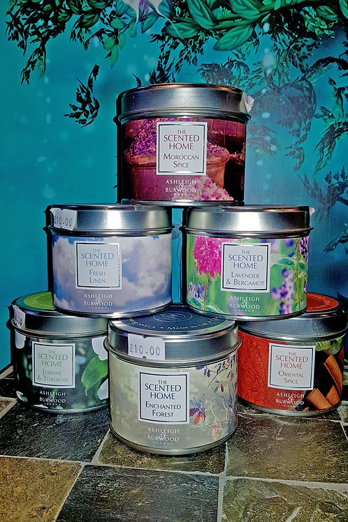 The Scented Home Tin Candles
