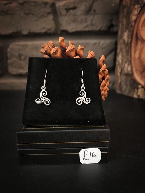 Triskele Celtic Earrings