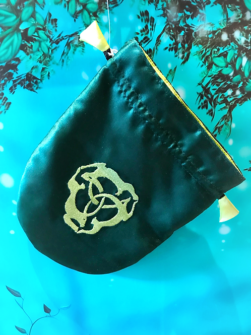 Satin tarot bags with embroidered symbols - 9 designs