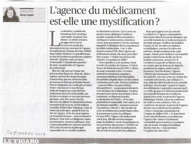 ARTICLE : «L'agence du médicament est-elle une mystification ?»