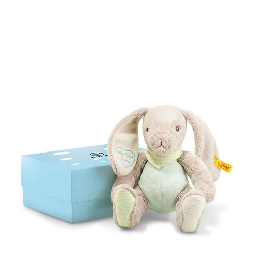 My first steiff rabbit with rustling foil in gift box
