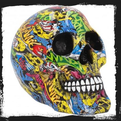 Graffiti 19cm skull