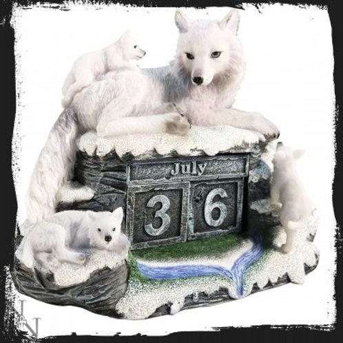 Mother's Watch Calendar 13cm Wolves