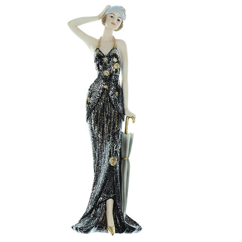 Broadway Belles Black Dress 32cm Rose