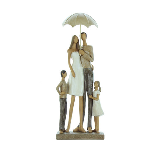 Rainy Day Collection Resin Figurine - Family