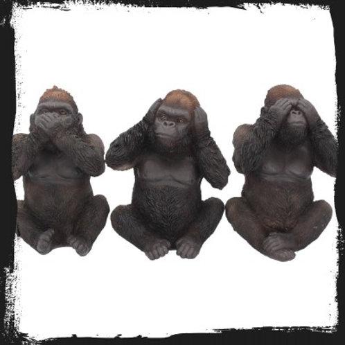 Three wise gorillas