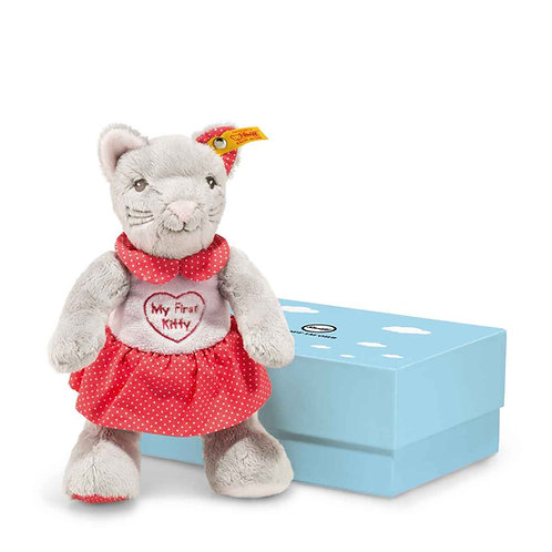 My first steiff cat with rustling foil in gift box