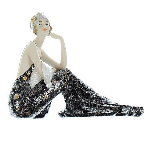 Broadway Belles Black Dress Sitting 15.5cm Lillian