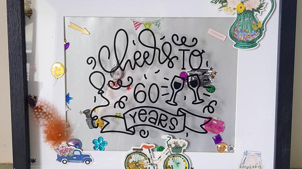 60th birthday Signature Frame