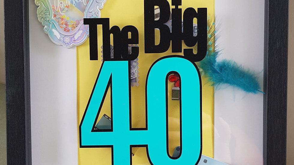 40th Birthday Signature Frame