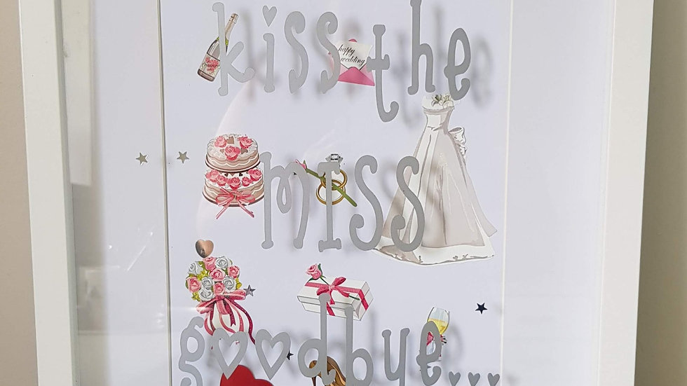 Bride to Be Kiss the Miss Signature Frame