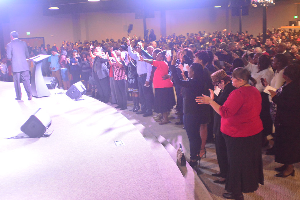 Altar call at Overcoming Believers Church Pastor Daryl Arnold