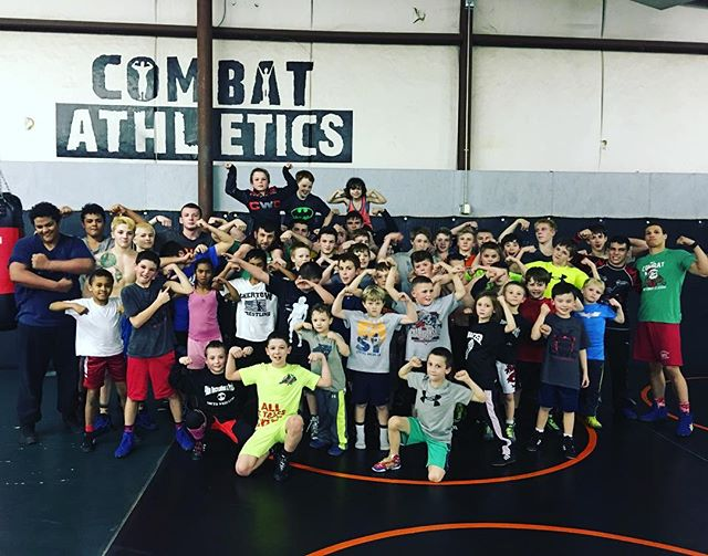 Awesome group for wrestling tonight! #squaa #combatstrong
