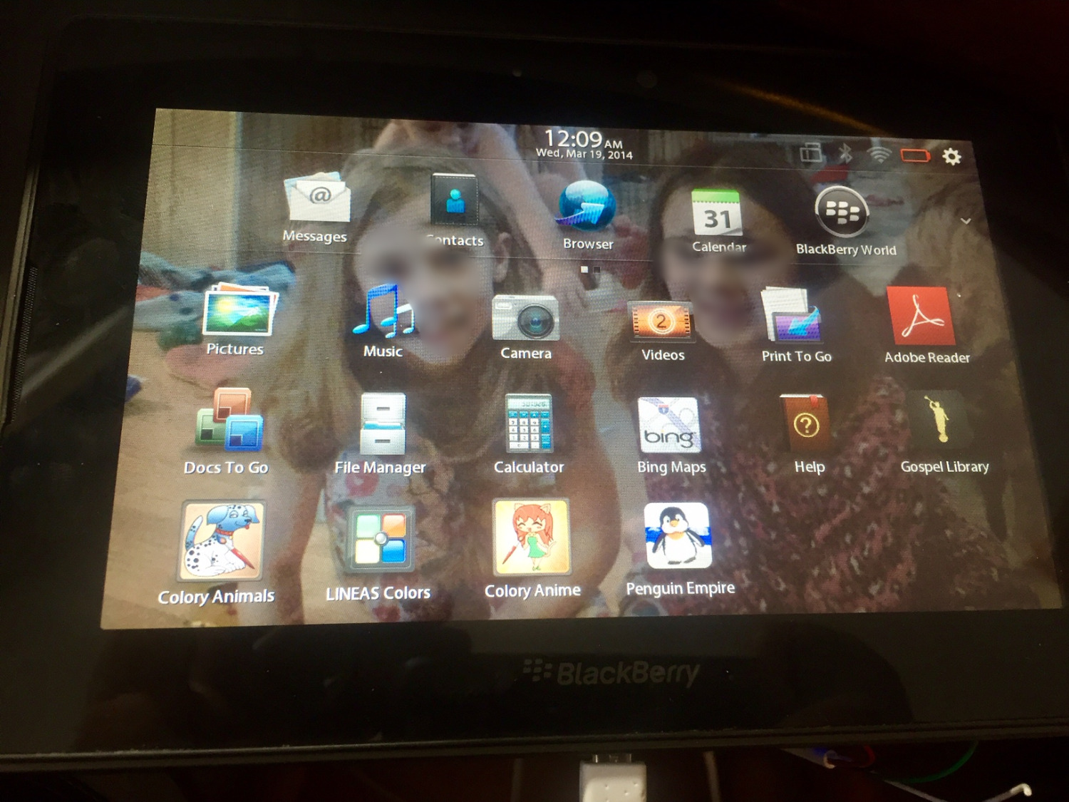 Blackberry Playbook not functioning
