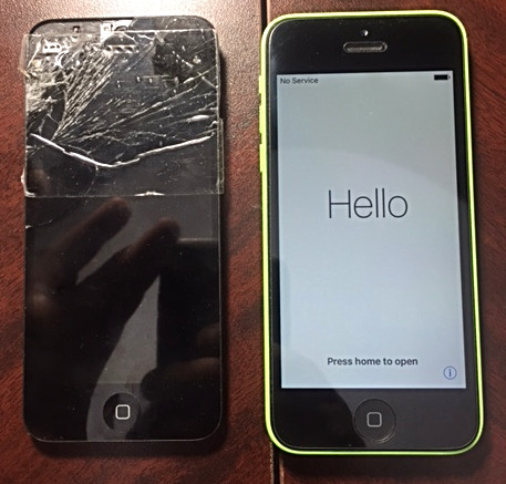 IPhone 5C screen change