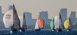 Close sailing downwind at last year's AW