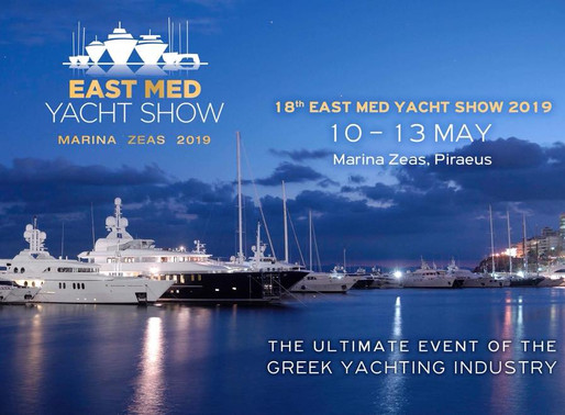Hellenic Professional Yacht Owners Association: 18th East Med Yacht Show at Zea Marina, Piraeus
