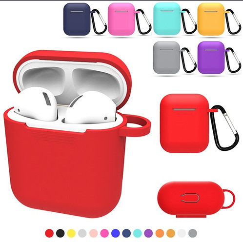 New Dust Proof Non-slip Shock Proof Candy Color Earphones Pouch Silicone Case C