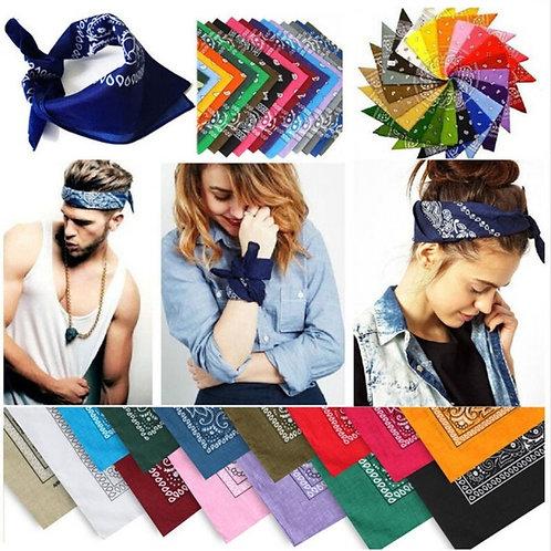 New Bandanna Hand Wrap Cotton Head Wrap Neck Wristband Handkerchief