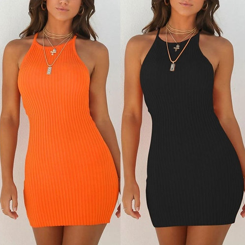 Fashion Sexy Rib Summer Dress