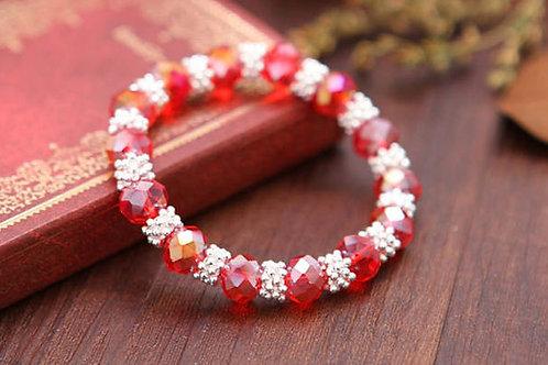 New style crystal snow women bracelet jewelry metal in silver
