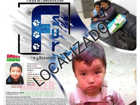 Localizan a Dylan Esaú, el niño desaparecido en Chiapas hace 45 días